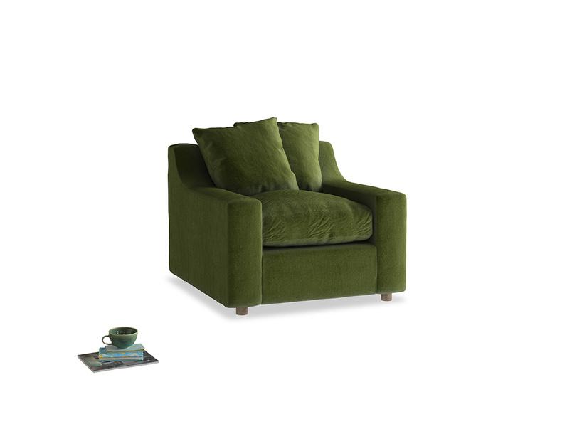 Cloud Armchair in Good green Clever Deep Velvet