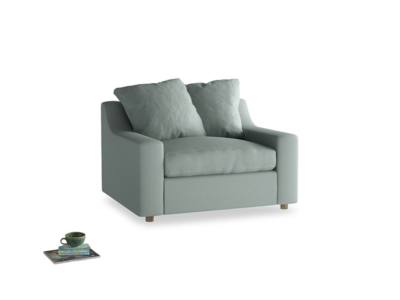 Cloud love seat sofa bed in Sea fog Clever Woolly Fabric