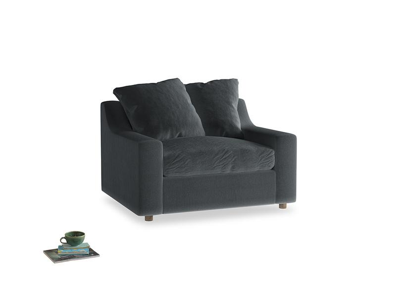 Cloud love seat sofa bed in Dark grey Clever Deep Velvet