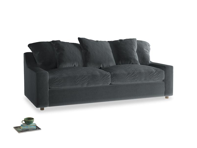 Large Cloud Sofa in Dark grey Clever Deep Velvet