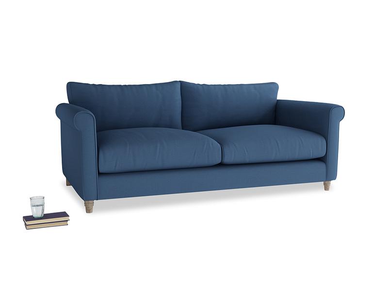 Large Weekender Sofa in True blue Clever Linen