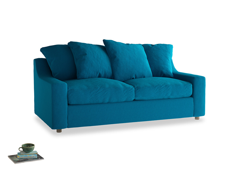 Medium Cloud Sofa Bed in Bermuda Brushed Cotton