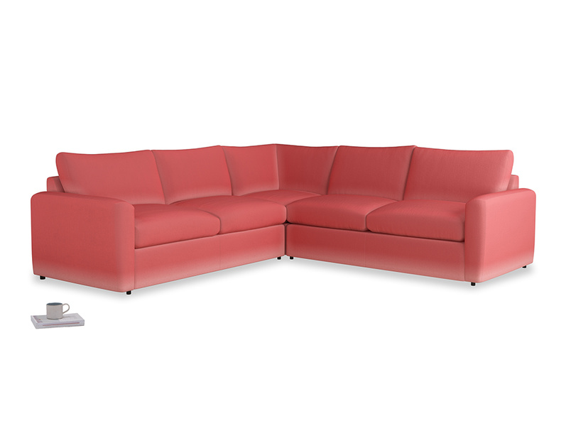 Even Sided  Chatnap modular corner storage sofa in Carnival Clever Deep Velvet with both arms