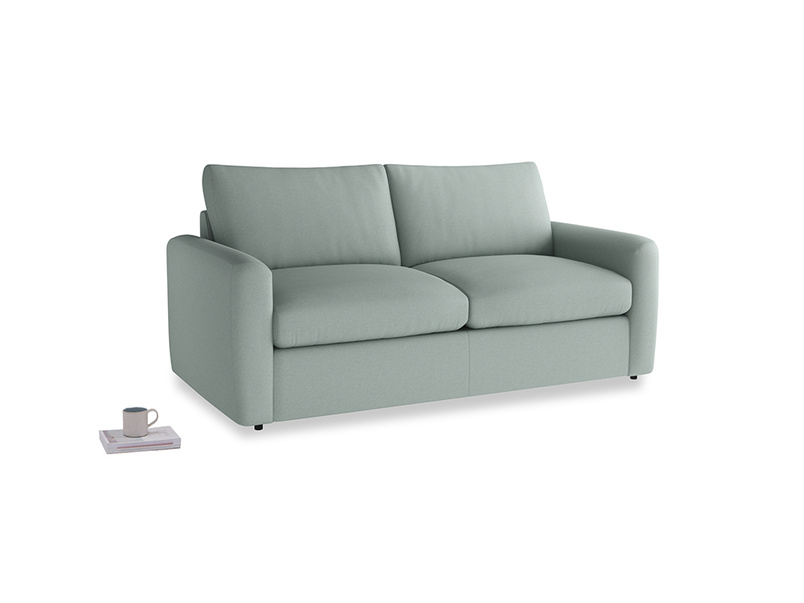 Chatnap Sofa Bed in Sea fog Clever Woolly Fabric with both arms
