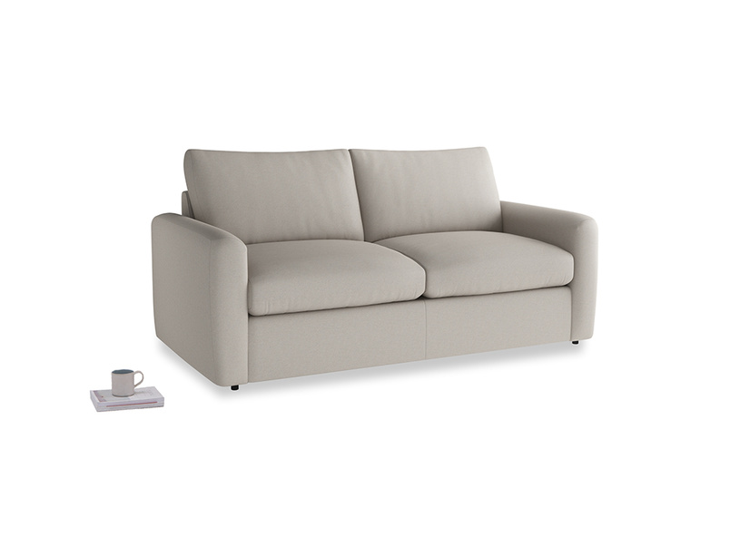 Chatnap Sofa Bed in Sailcloth grey Clever Woolly Fabric with both arms