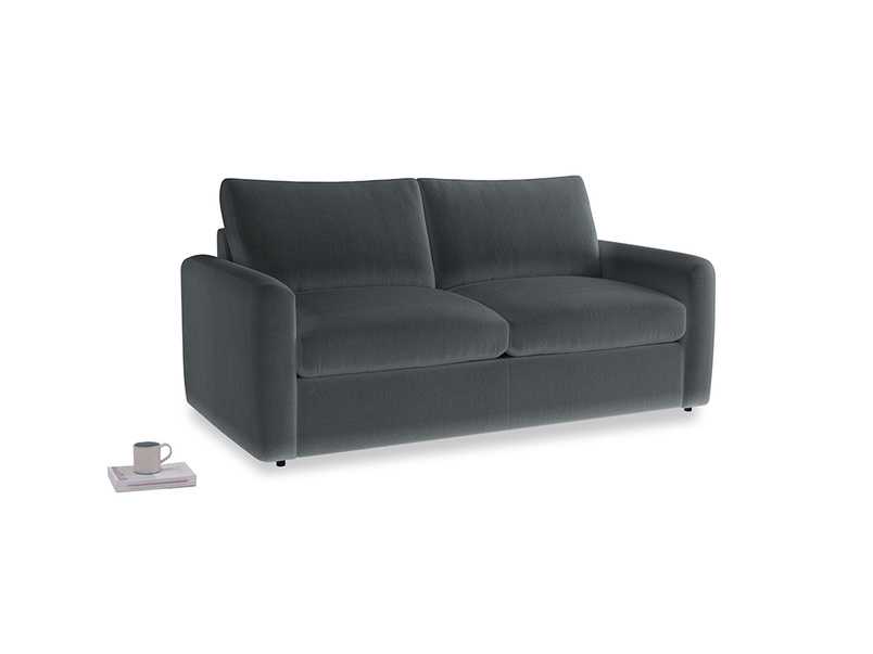 Chatnap Sofa Bed in Dark grey Clever Deep Velvet with both arms