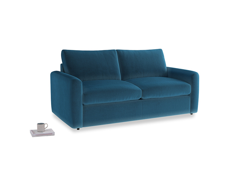 Chatnap Sofa Bed in Twilight blue Clever Deep Velvet with both arms