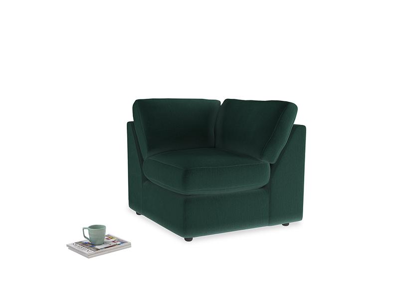 Chatnap Corner Unit in Dark green Clever Velvet