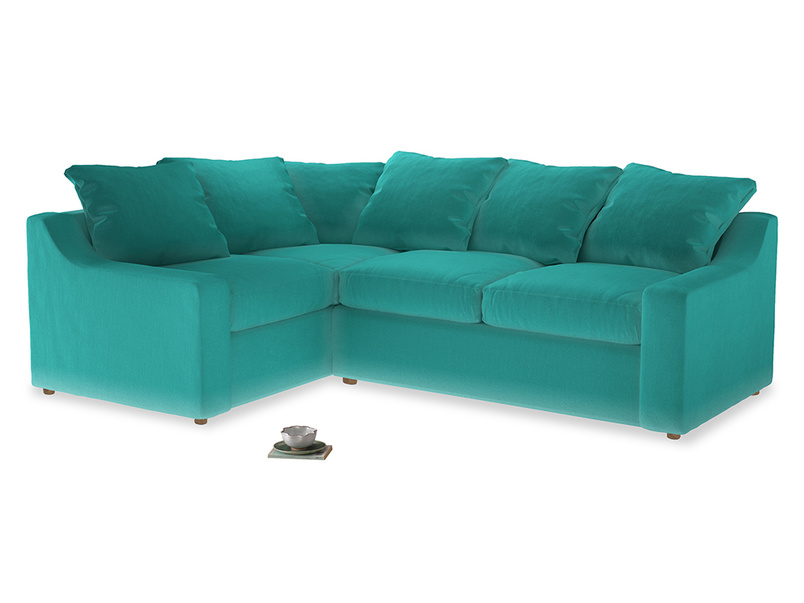 Large Left Hand Cloud Corner Sofa in Fiji Clever Velvet