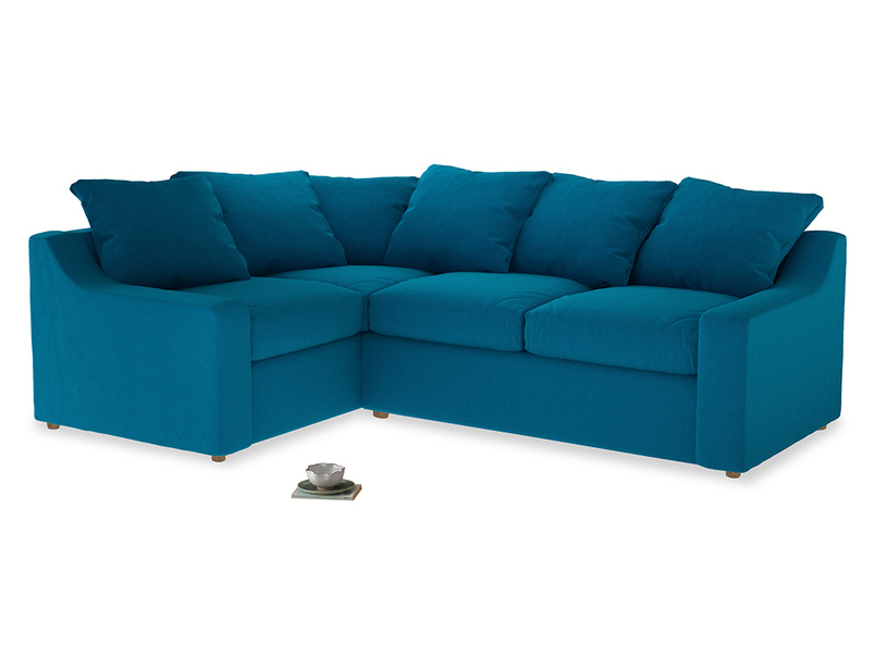 Large Left Hand Cloud Corner Sofa in Bermuda Brushed Cotton