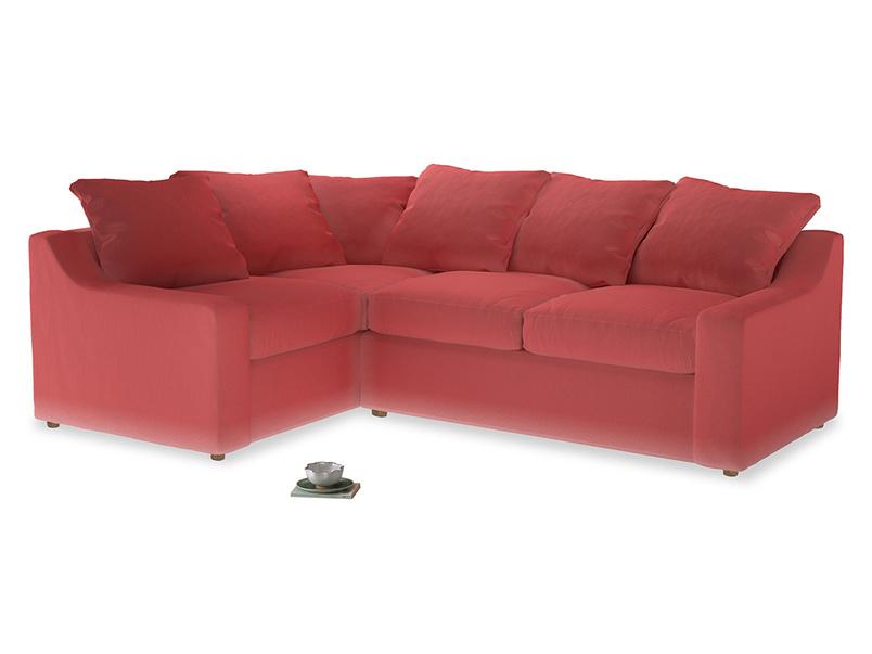 Large Left Hand Cloud Corner Sofa in Carnival Clever Deep Velvet