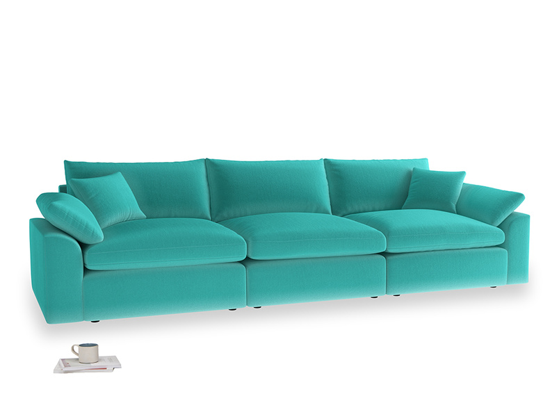 Large Cuddlemuffin Modular sofa in Fiji Clever Velvet
