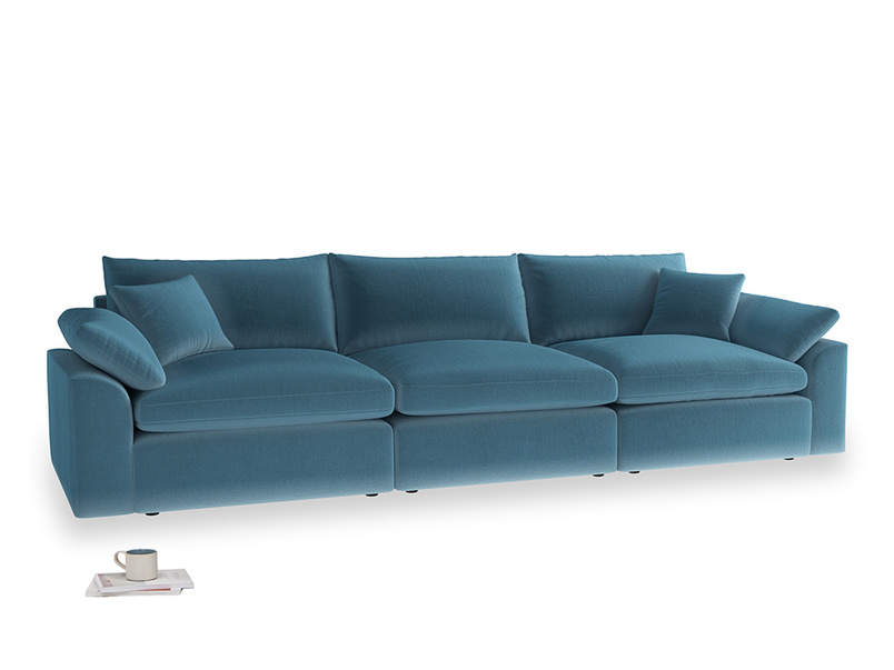 Large Cuddlemuffin Modular sofa in Old blue Clever Deep Velvet