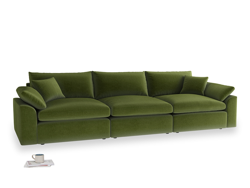 Large Cuddlemuffin Modular sofa in Good green Clever Deep Velvet