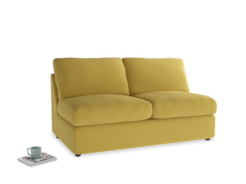 Chatnap Sofa Bed in Maize yellow Brushed Cotton