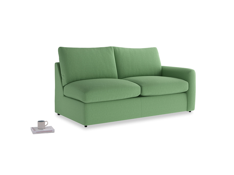 Chatnap Sofa Bed in Clean green Brushed Cotton with a right arm