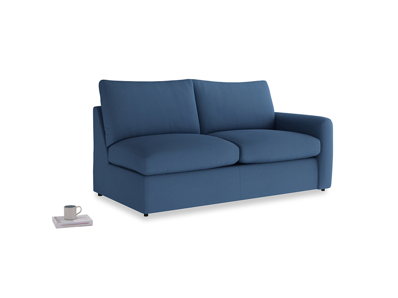 Chatnap Sofa Bed in True blue Clever Linen with a right arm