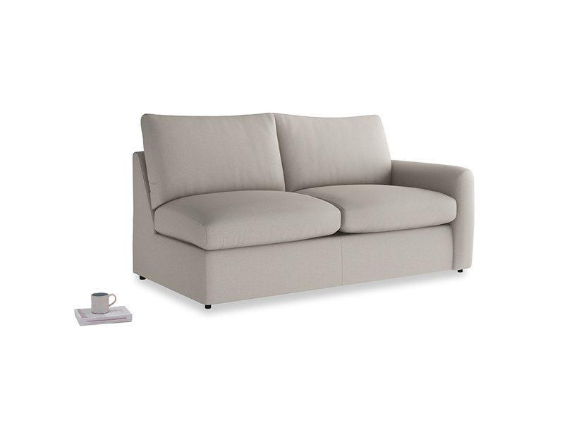 Chatnap Sofa Bed in Sailcloth grey Clever Woolly Fabric with a right arm