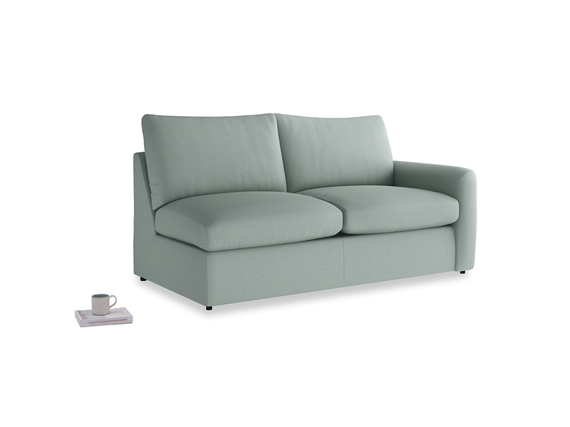 Chatnap Sofa Bed in Sea fog Clever Woolly Fabric with a right arm