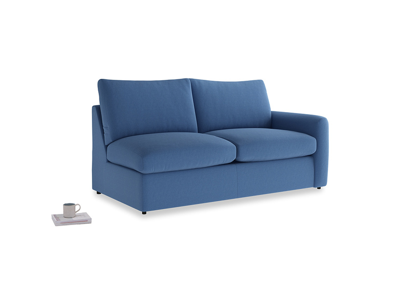 Chatnap Storage Sofa in English blue Brushed Cotton with a right arm