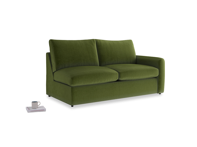 Chatnap Storage Sofa in Good green Clever Deep Velvet with a right arm