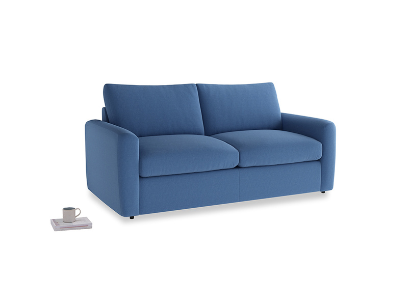 Chatnap Storage Sofa in English blue Brushed Cotton with both arms