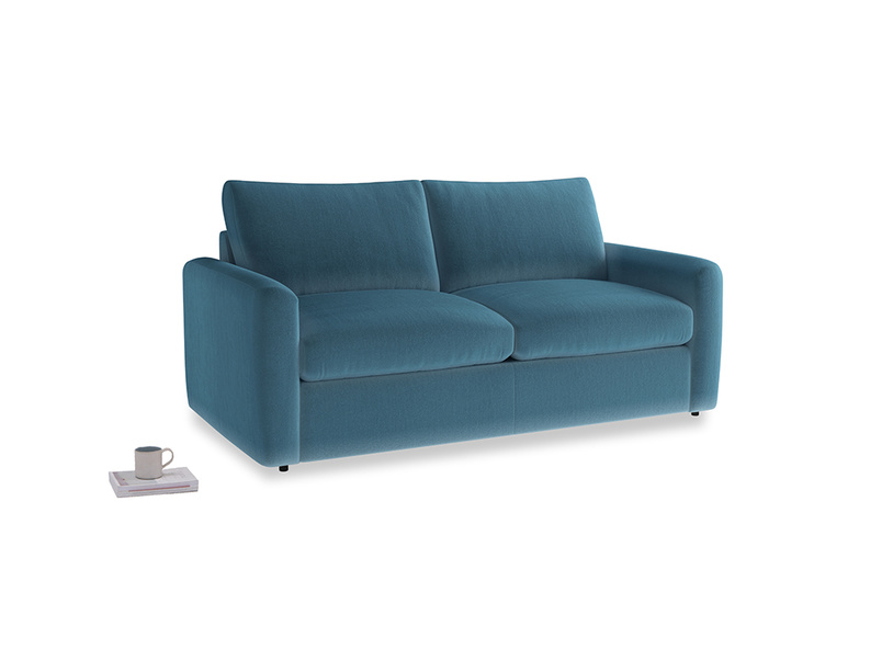 Chatnap Storage Sofa in Old blue Clever Deep Velvet with both arms