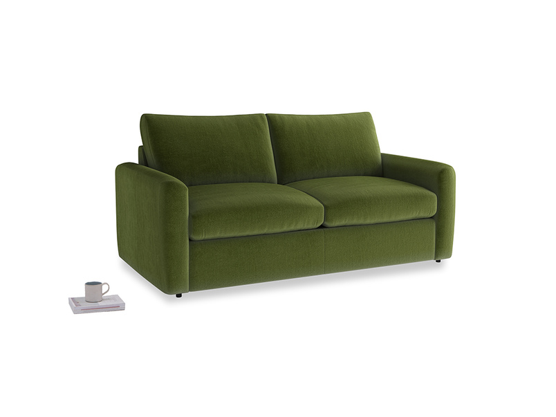 Chatnap Storage Sofa in Good green Clever Deep Velvet with both arms