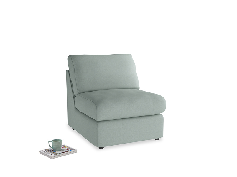 Chatnap Storage Single Seat in Sea fog Clever Woolly Fabric