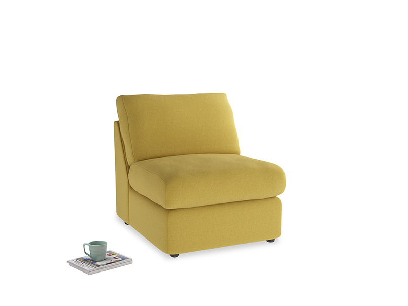 Chatnap Storage Single Seat in Maize yellow Brushed Cotton