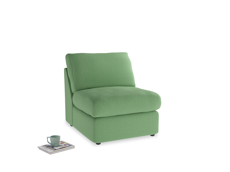 Chatnap Storage Single Seat in Clean green Brushed Cotton