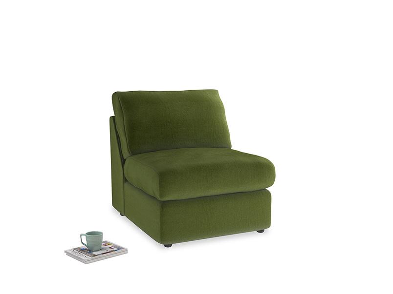 Chatnap Storage Single Seat in Good green Clever Deep Velvet