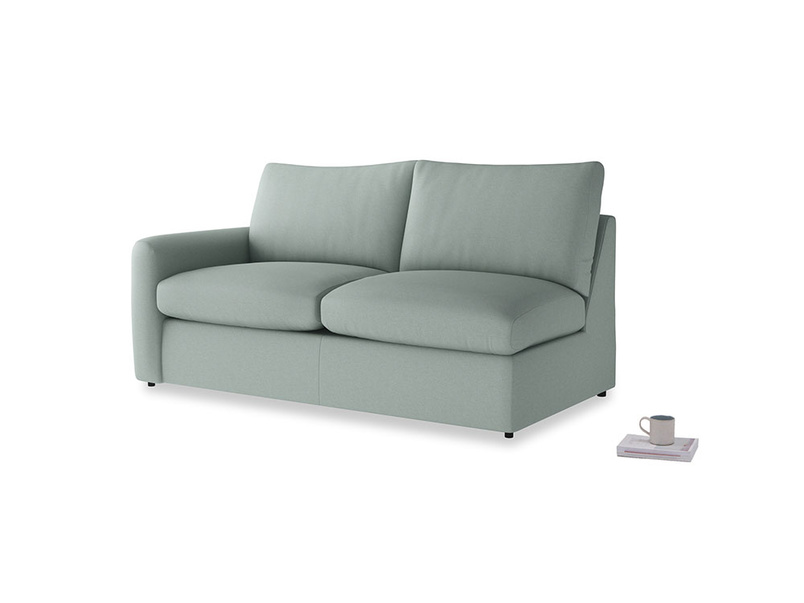 Chatnap Sofa Bed in Sea fog Clever Woolly Fabric with a left arm