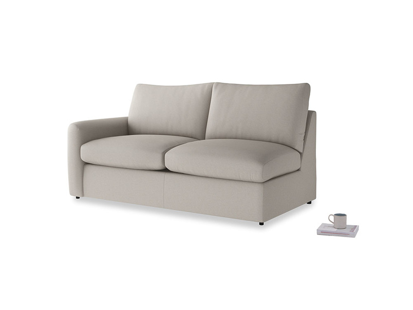 Chatnap Sofa Bed in Sailcloth grey Clever Woolly Fabric with a left arm
