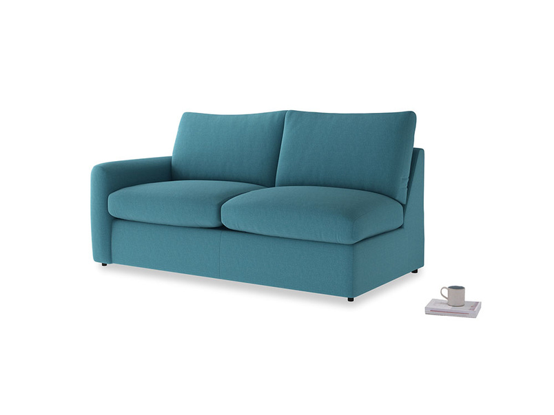 Chatnap Sofa Bed in Lido Brushed Cotton with a left arm