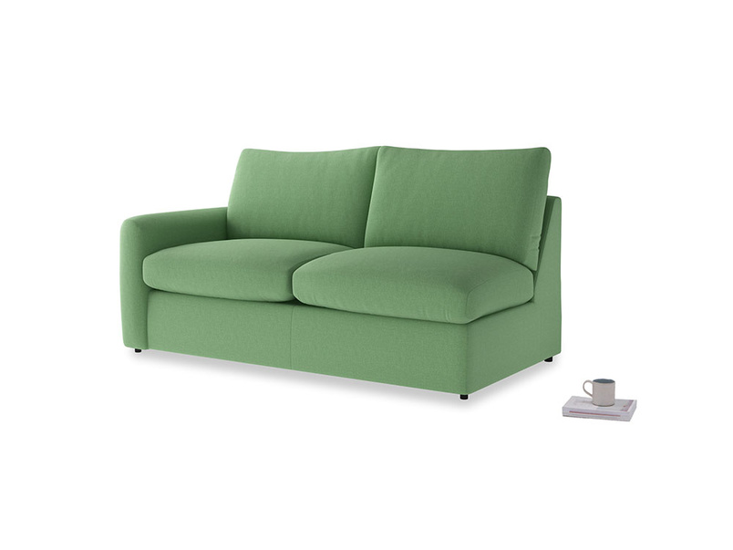 Chatnap Sofa Bed in Clean green Brushed Cotton with a left arm