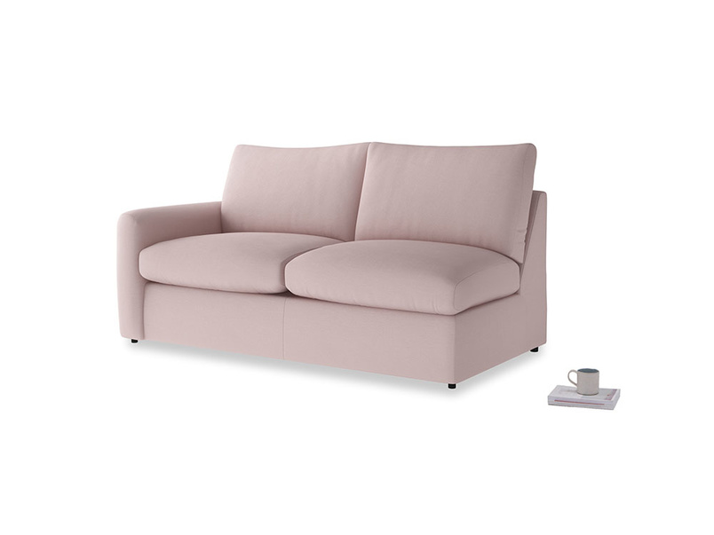 Chatnap Sofa Bed in Potter's pink Clever Linen with a left arm