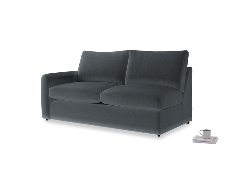 Chatnap Sofa Bed in Dark grey Clever Deep Velvet with a left arm
