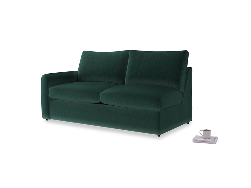 Chatnap Storage Sofa in Dark green Clever Velvet with a left arm