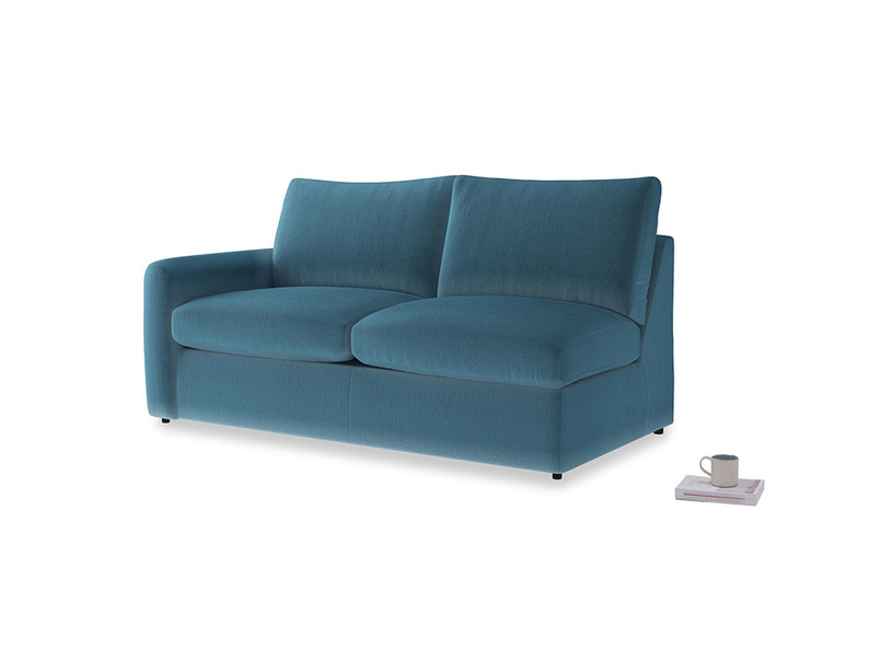 Chatnap Storage Sofa in Old blue Clever Deep Velvet with a left arm