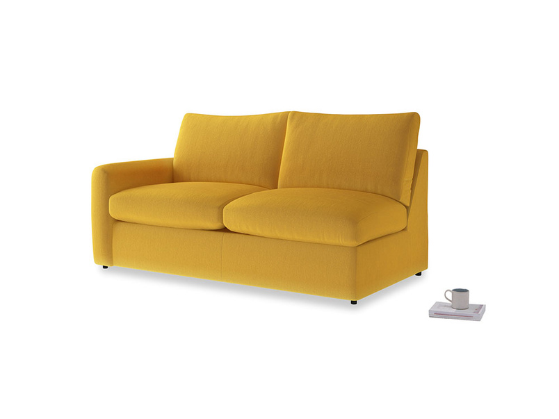 Chatnap Storage Sofa in Pollen Clever Deep Velvet with a left arm
