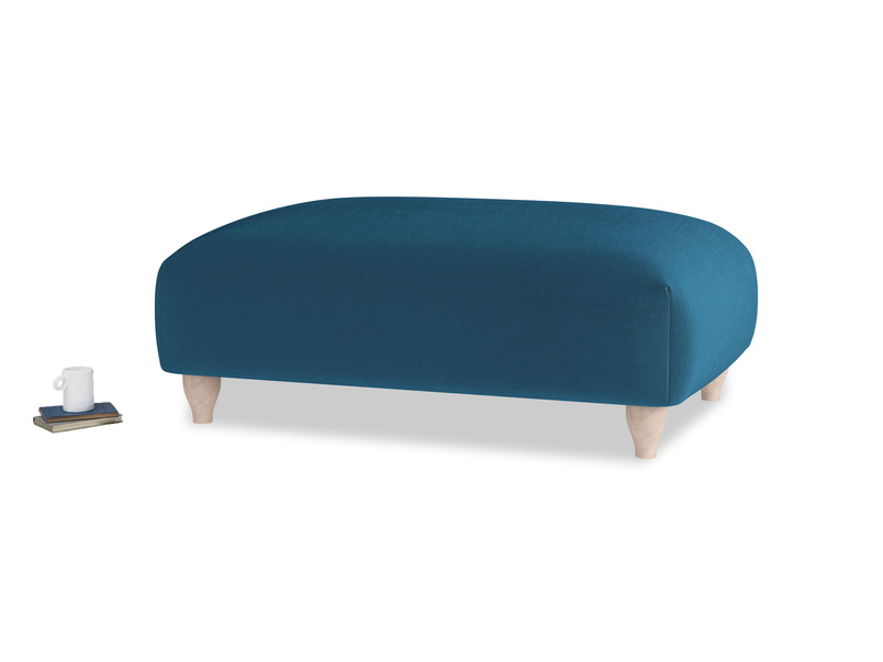 Soufflé Footstool in Twilight blue Clever Deep Velvet