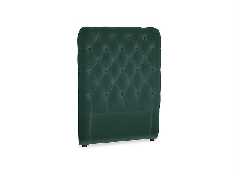 Single Tall Billow Headboard in Dark green Clever Velvet