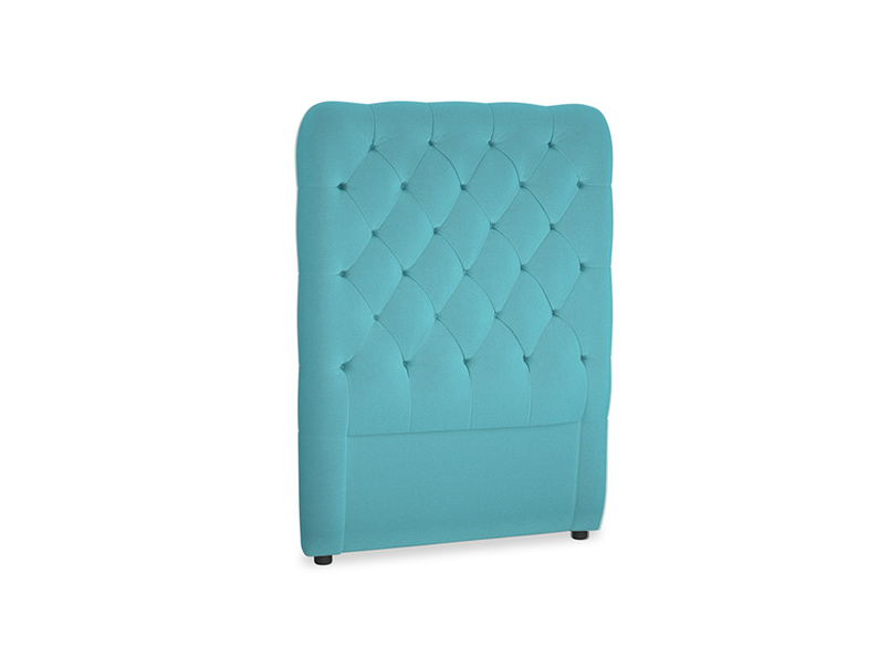 Single Tall Billow Headboard in Pacific Clever Velvet
