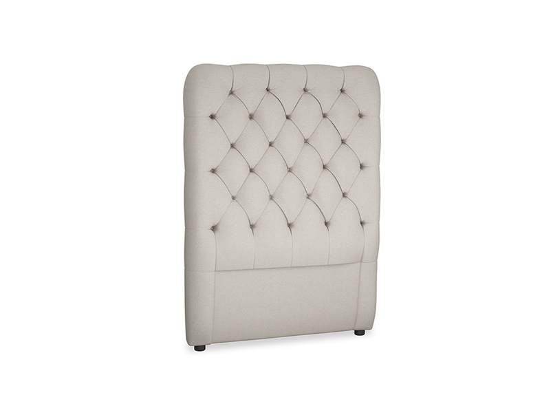 Single Tall Billow Headboard in Sailcloth grey Clever Woolly Fabric