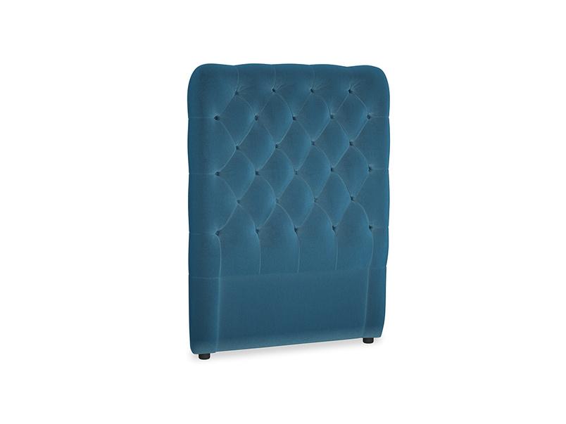 Single Tall Billow Headboard in Twilight blue Clever Deep Velvet
