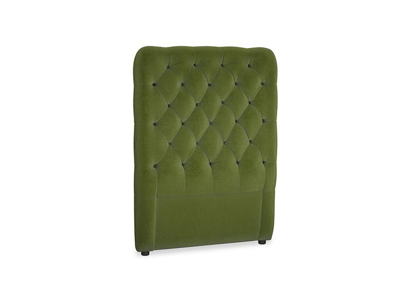 Single Tall Billow Headboard in Good green Clever Deep Velvet