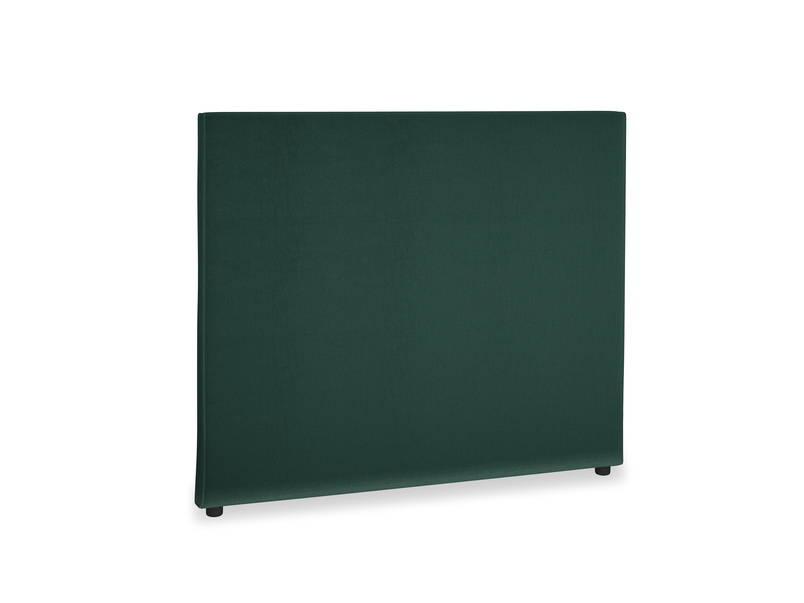 Double Piper Headboard in Dark green Clever Velvet