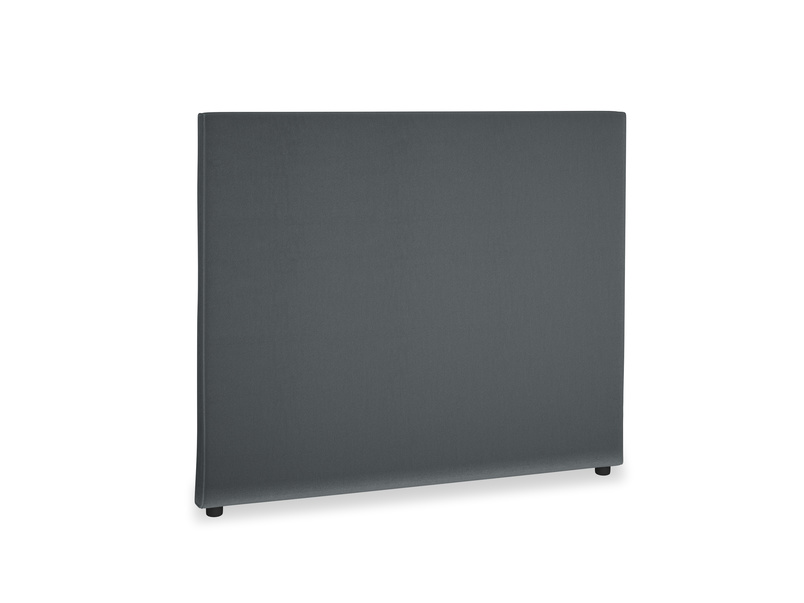 Double Piper Headboard in Dark grey Clever Deep Velvet
