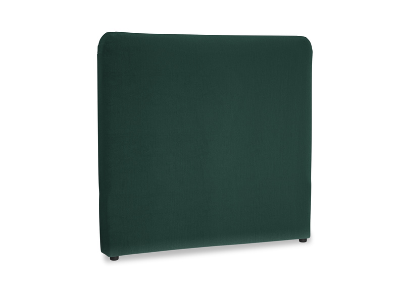Double Ruffle Headboard in Dark green Clever Velvet